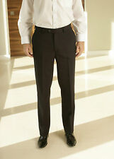 Skopes Cyprus Flat Front Trousers - Black or Bronze - 32 Regular Leg - Box021 C