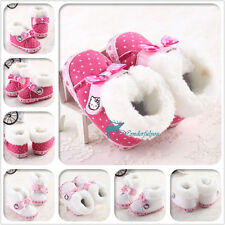 Infant Girl Toddler Baby Shoes Warm Winter Boots Walker Crib Prewalker 3 Size#
