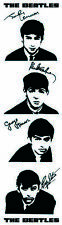 The Beatles Card Bookmark Signatures Black White Photographs Strip 100% Official