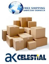 SINGLE WALL CARD BOARD BOXES PARCEL MAIL SIZE POSTAL BOX CARTON PACKING STORAGE
