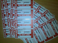 Pat Testing Labels 100 X Failed Pat Test Labels stickers