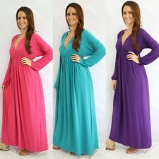 Women Casual V neck Cocktail Maxi Dress Formal Hippie Boho Parties Wear To Work