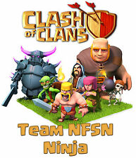 Clash Of Clans Custom t-shirt Personalize Birthday gift Youth and Adult sizes