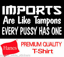 HANES 100% Cotton Men's Funny Custom Modified 4x4 Ute T Shirt IMPORTS WANT A V8