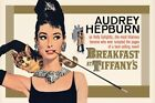 Audrey Hepburn - Breakfast at Tiffany's - Gold Poster