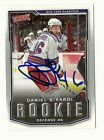 07/08 UD VICTORY #203 DANIEL GIRARDI RANGERS AUTOGRAPHED SIGNED CARD ROOKIE RC