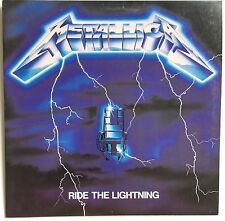 RARE METALLICA RIDE THE LIGHTNING ~ WHITE LABLE PROMO WITH GOLD LETTERED STAMP