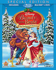 Beauty and the Beast: An Enchanted Christmas (Blu-ray/DVD, 2011, 2-Disc Set) NEW