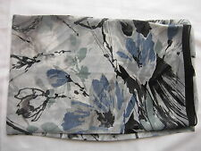 Brand New Flower Printing Design Scarf Wrap Black