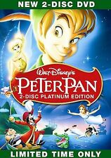 PETER PAN~(DVD, 2007, 2-Disc Set, Platinum Edition)~BRAND NEW IN PACKAGE! L@@K!