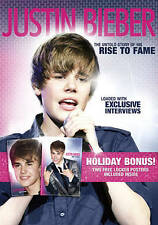 JUSTIN BEIBER - THE UNTOLD STORY OF HIS RISE TO FAME DVD W/2 FREE LOCKER POSTERS