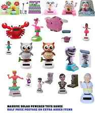 Solar Powered Collectable Toys MASSIVE Range Cheap Postage (will revise postage)