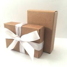 """""""The Finest Quality & Pre-Glued!"""" BROWN KRAFT Wedding Cake Box Favour Gift"""