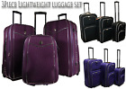 Light Weight Trolley Case, Suitcase 3 Piece Set Value Luggage,Expandable Strong