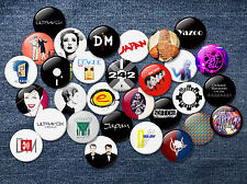80s Electronic New Wave Music 38mm badges synth pop rock band romantic