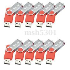 MECO 10PCS Lot Sale 4GB 4G USB 2.0 Flash Drive Memory Stick Thumb Pen Stick Red
