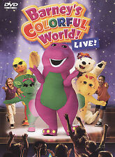 Barney's Colorful World Live! DVD VIDEO MOVIE stage show TV kid songs         1c
