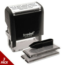 Trodat Self-Inking Do It Yourself Message Stamp 3/4 x 1 7/8 [3 PACK]