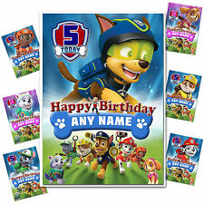 Large Personalised Birthday card; PAW Patrol; Any age name for little /big (762)