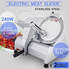"""10"""" MEAT SLICER DELI CUTTER FOR FOOD CONTROL THICKNESS OPEN KITCHEN PROFESSIONAL"""