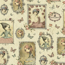 Quilting Treasures -Mirabelle Cream Girl Patches 23898-E-Quilt, Clothing, Crafts