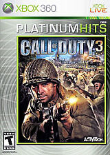 Call of Duty 3 -- Platinum Hits (Microsoft Xbox 360, 2008) With Bonus Disc
