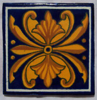 "90 PCS  Mexican Talavera Ceramic Tiles Handmade 4"" C180"