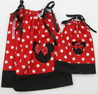 "Minnie Mouse Pillowcase Dress Girls + 18"" Doll Size 1T 2T 3T Mult-col Red Easter"