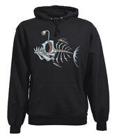 FUN Hooded Sweatshirt, Bonefish (Fish Bone) Kapuzen Pulli, Gr. M bis XXL... 3XL*
