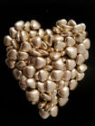 100 Gold Heart Shaped Wedding Favour Sweets Dragees