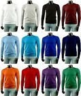 New Mens Long-Sleeve Cotton T-Shirts 15 Colour Collection