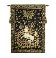 MEDIEVAL TAPESTRY WALL HANGING UNICORN IN CAPTIVITY