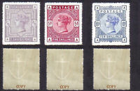 Queen Victoria 1883-84 High Value Set (FORGERIES)