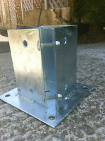 "Galvanized Metal Post Supports 6""x 6""(150mmx150mm) Timber Fence BoltDown Metpost"