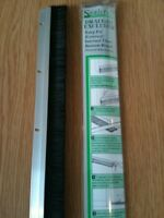 Brand New Draught Excluder Door Bottom Brush Aluminium