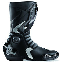 Motorcycle Xpd VR6 H2OUT Waterproof  Race Style Boot. Black, Size EU 43, UK 9