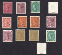 Queen Victoria 1857-64 Stamp Set (FORGERIES)
