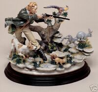 NEW The Hunter Enzo Capodimonte Laurenz Collection Figurine Made in Italy
