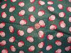 Fabric- Winter Friends --Santa on Green with White Dots