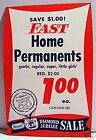 1950 Rexall Drug Store Home Permanents Sign Old Stock
