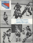 1970-71 RANGERS vs MAPLE LEAFS NHL Hockey Program