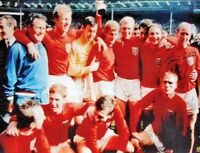 "SIR BOBBY CHARLTON SIGNED ENGLAND 1966 WORLD CUP FINAL 16""x12"" PHOTOGRAPH PROOF"