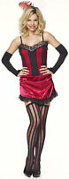 SALOON GIRL BURLESQUE FANCY DRESS OUTFIT COSTUME,  S (8-10)