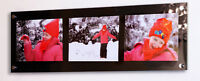 """BLACK PERSPEX CHESHIRE ACRYLIC PICTURE WALL FRAME FOR 3X PHOTO 10X8"""" pixi"""