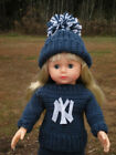 "American Girl 18"" Doll Baseball Crochet Set You Choose Sweater Hat Set"