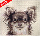 Long Haired CHIHUAHUA dog ~ Complete counted cross stitch kit