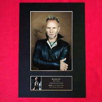 STING Autograph Signed Photo Mounted Photo Repro A4 Print 72