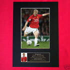 PAUL SCHOLES Man Utd Signed Autograph Mounted Photo Repro A4 Print 50
