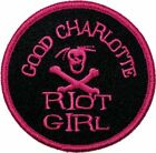 New GOOD CHARLOTTE - Riot Girl PINK Patch Iron / Sew On