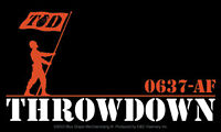 New, Genuine THROWDOWN - 0637-AF VINYL STICKER Decal